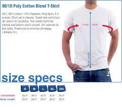 Rush Order Tees Size Chart U S Blues Heather Grey Poly Cotton T Shirt