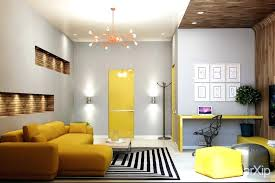 yellow accent decor living room design modern yellow accents