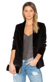 anine bing velvet blazer black women anine bing stockists high quality guarantee