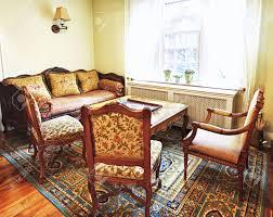 Living Room Antique Furniture Antique Furniture In Living Room Interior Of Home Stock Photo