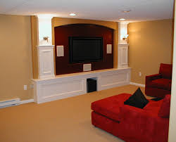 basement home theater. Simple Home Custom Basement Home Theater With Cabinet And