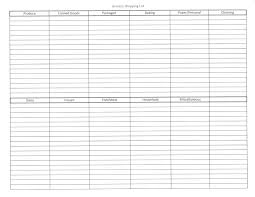 Thanksgiving Grocery List Template Free Printable Grocery List Template Blank Checklist Awesome