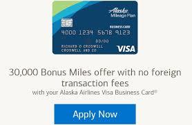 Expired Alaska Airlines Business Card 30k Miles Sign Up Bonus