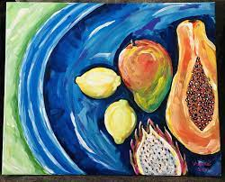 Pin by Aimee Irizarry on Pacana by Aimeé   Fruit plate, Tropical fruits,  Artwork