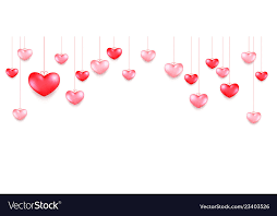 hanging hearts valentines day greeting