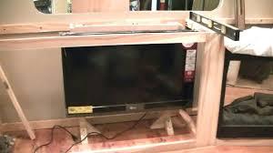 diy tv lift cabinet lift cabinet motorized lift cabinet part in my terry resort wheel camper