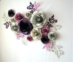 Paper Flower Wedding Backdrops Large Paper Flowers Flower Wall Decor Wedding Backdrop This