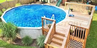 above ground pool decks cost modern construction add deck regarding pool with deck interior above ground hardwood swimming pool decks