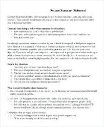 Personal Qualifications Statement Qualification For Resume Airexpresscarrier Com