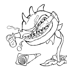 Small Picture Plants vs zombies coloring pages chomper eat zombie ColoringStar