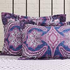 mainstays grace medallion purple bed in a bag complete bedding set com
