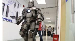 iron man office. On June 3 2011, Wang Kang (a 25-year-old Office Worker In Shanghai, China) Walked Into His Building Wearing A Homemade Iron Man Suit.
