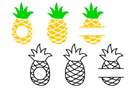 These files ready to be used with any cutting machine or. Pineapple Monogram Frame Graphic By Crystalgiftsstudio Creative Fabrica