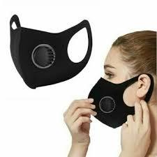 breathable mask washable black reusable