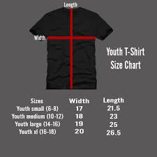 Small T Shirt Size Chart Youth T Shirt Size Chart