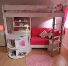 Stompa Casa 4 White Loft Bed with Desk and Pink Sofa Bed: Amazon.co