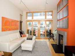 Orange Living Room Chair Magnificent Interior Remodel Design With A Saddle Brown Wall Paint