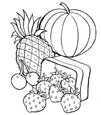 Small Picture Simple Healthy Food Coloring Pages And Print For Page Printable