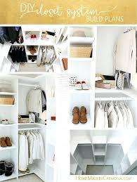 how to build a closet organizer custom closet shelving for deep closets build your own closet