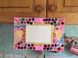 collage cardboard picture frame