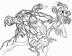 Small Picture Spiderman vs venom coloring pages