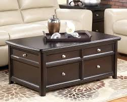 coffee table espresso with storage drawers contemporary finish square glass oval coffee table espresso