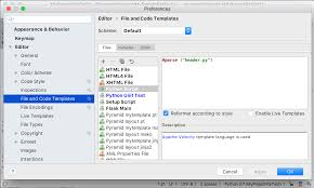 File and code templates - Help | PyCharm