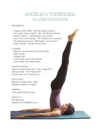 Resume Angelica Thornhill Pilates And Wellness