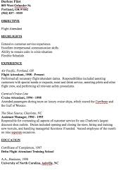 Resume Example Template Fascinating Example Of Flight Attendant Resume Httpresumesdesign