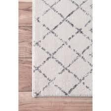 nuloom geometric moroccan bead pattern grey white rug (' x