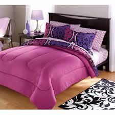 your zone dotted damask bedding comforter set purple size twin 784857600278