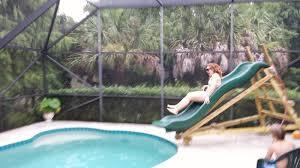 homemade pool slide fun 800x450