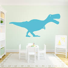 contemporary design kids room with t rex wall art decal and matte colors dinosaur wall decals target