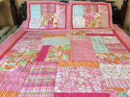 details about dyr do your room target twin quilt set hawaiian tropical hibiscus flip flop pink