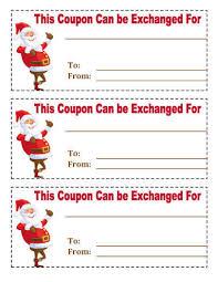 Printable Christmas Certificates 21 Free Printable Christmas Coupons