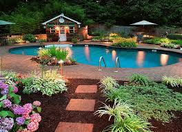 pool landscaping ideas on a budget backyard landscape design ideas