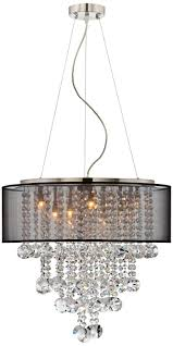 chandelier pleasant black shades clearance favored pottery barn lamp drum shape archived on lighting with