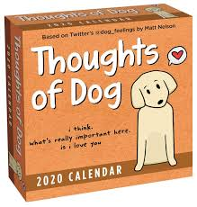 Thoughts Of Dog 2020 Day To Day Calendar Matt Nelson