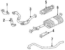 1997 honda passport parts diagram vehiclepad 1997 honda parts com® honda passport exhaust system oem parts