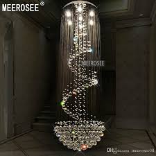 long size crystal chandelier light fixture modern re de cristal light for lobby staircase stairs foyer