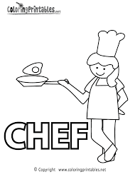 Chef Coloring Page Printable
