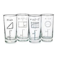 mathematical glasses set of 4