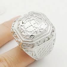 retro religious cross rings snless steel luxurious church jewelry biker rock mens ring wr133