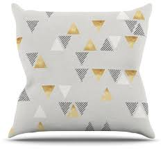 Grey And Gold Decorative Pillows