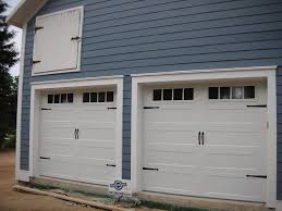 9 x 8 c h i garage doors model 5916 sted panel color white window design madison carriage hardware spade installed in northville