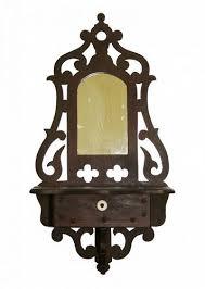 antique american walnut wall shelf with