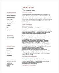 Sample Teaching Assistant Resumes Letter Example