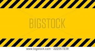 Black And Yellow Stripes Border Black Yellow Warning Vector Photo Free Trial Bigstock