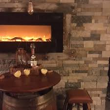 diy faux stone accent wall