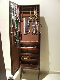 standing mirror jewelry armoire and mirrored jewelry stand full mirror jewelry armoire large mirror jewelry armoire